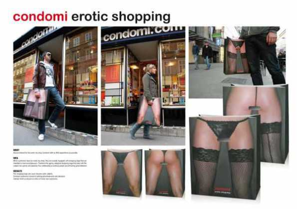 Erotic Shopping - Holding private parts